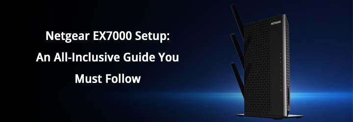 Netgear EX7000 Setup